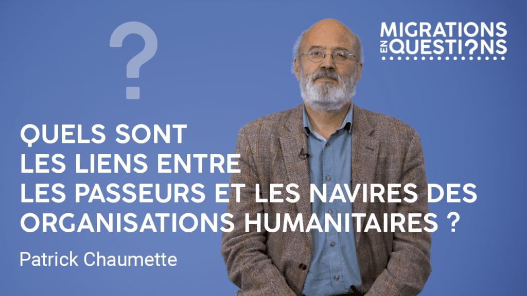 Quels sont les liens entre les passeurs et les navires des organisations humanitaires ?