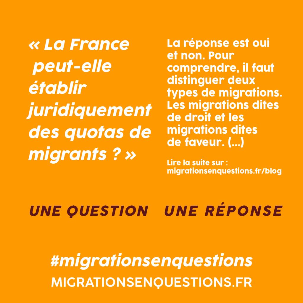 La France peut-elle établir juridiquement des quotas de migrants ?