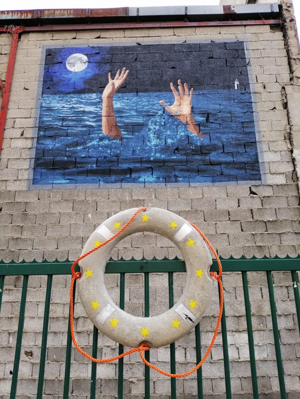 Migrations et Street Art Peinture Fraîche